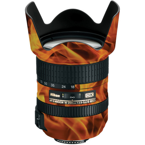LensSkins Lens Wrap for Nikon 18-200mm f/3.5-5.6G II (Fire)