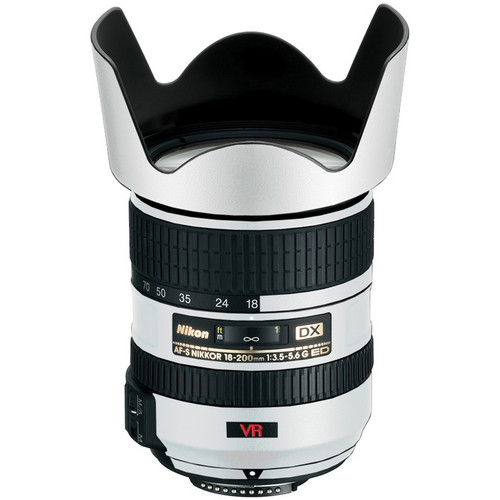 LensSkins Lens Skin for the Nikon 18-200mm f/3.5-5.6G AF-S IF-ED VR II Lens (Flat White)