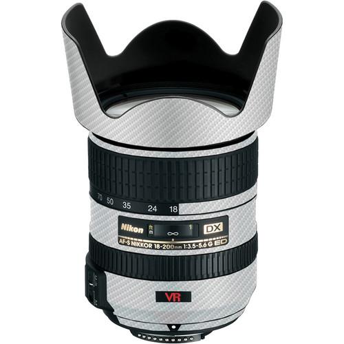 LensSkins Lens Skin for the Nikon 18-200mm f/3.5-5.6G AF-S IF-ED VR II Lens (White Carbon Fiber)