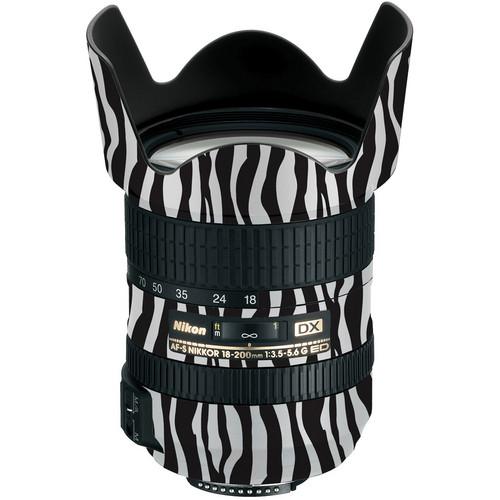 LensSkins Lens Wrap for Nikon 18-200mm f/3.5-5.6G II (Zebra (Wild Child))
