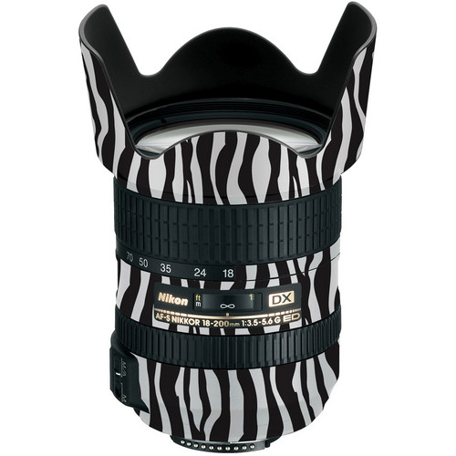 LensSkins Lens Wrap for Nikon 18-200mm f/3.5-5.6G II (Zebra (Wild Child))