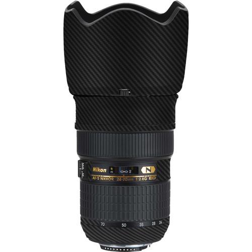 LensSkins Lens Skin for the Nikon 24-70mm f/2.8G AF-S ED Lens (Black Carbon Fiber)