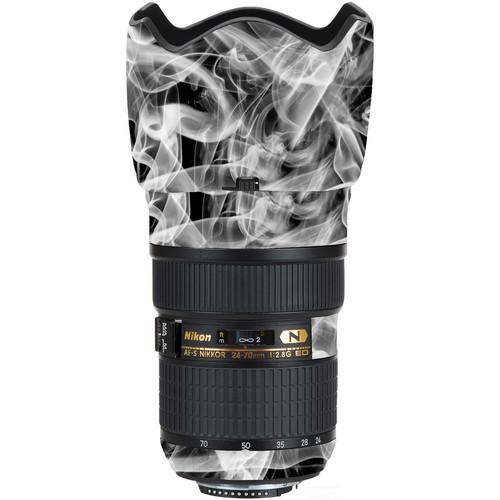 LensSkins Lens Wrap for Nikon 24-70mm f/2.8G (Black and White Smoke)