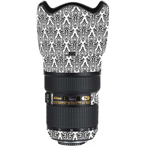 LensSkins Lens Wrap for Nikon 24-70mm f/2.8G (BW Damask)