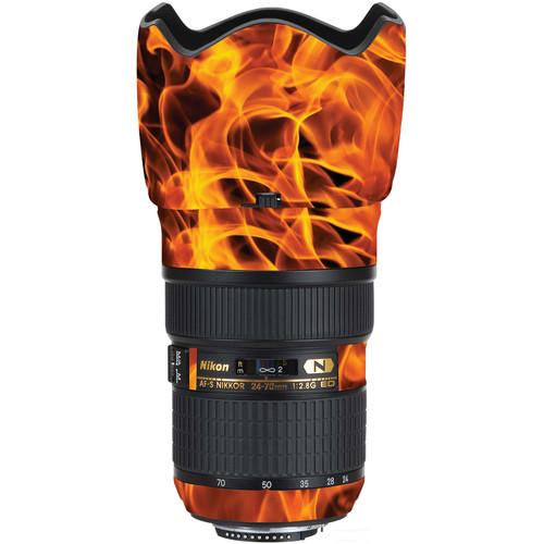 LensSkins Lens Wrap for Nikon 24-70mm f/2.8G (Fire)