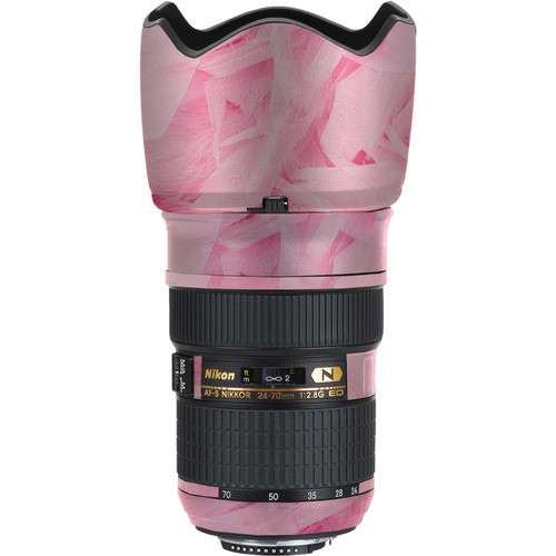 LensSkins Lens Skin for the Nikon 24-70mm f/2.8G AF-S ED Lens (Tickled Pink)
