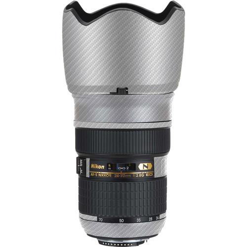 LensSkins Lens Skin for Nikon 24-70mm f/2.8G AF-S ED (White Carbon Fiber)