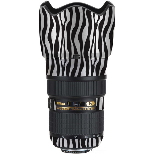 LensSkins Lens Wrap for Nikon 24-70mm f/2.8G (Zebra (Wild Child))