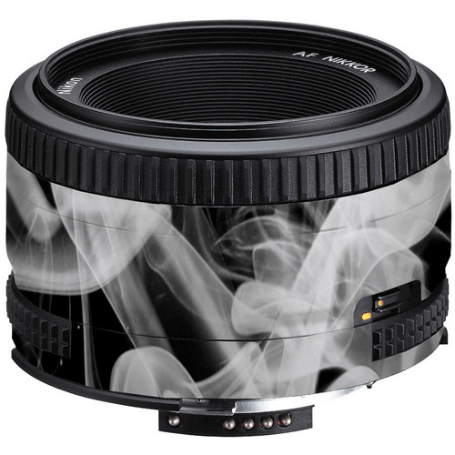 LensSkins Lens Wrap for Nikon 50mm f/1.8D (Black and White Smoke)