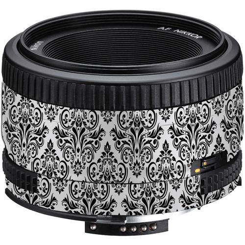LensSkins Lens Wrap for Nikon 50mm f/1.8D (BW Damask)