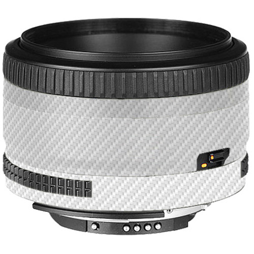 LensSkins Lens Skin for the Nikon 50mm f/1.8D AF Lens (White Carbon Fiber)