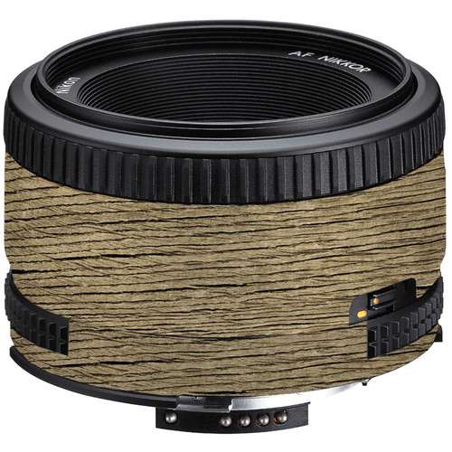 LensSkins Lens Wrap for Nikon 50mm f/1.8D (Woodie)
