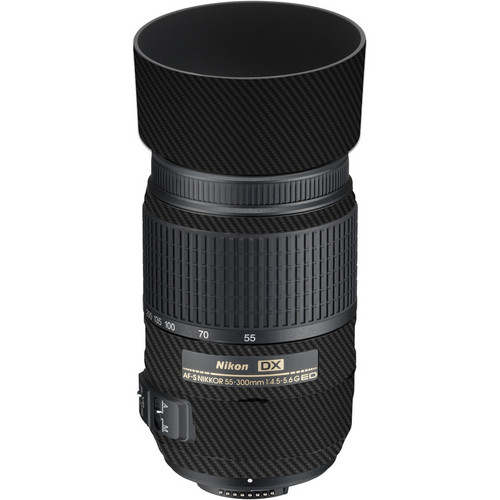 LensSkins Lens Skin for the Nikon 55-300mm f/4.5-5.6G ED VR Lens (Black Carbon Fiber)