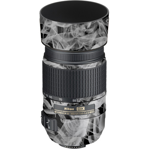 LensSkins Lens Wrap for Nikon 55-300mm f/4.5-5.6G (Black and White Smoke)