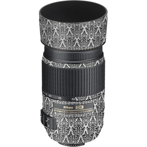 LensSkins Lens Wrap for Nikon 55-300mm f/4.5-5.6G (BW Damask)