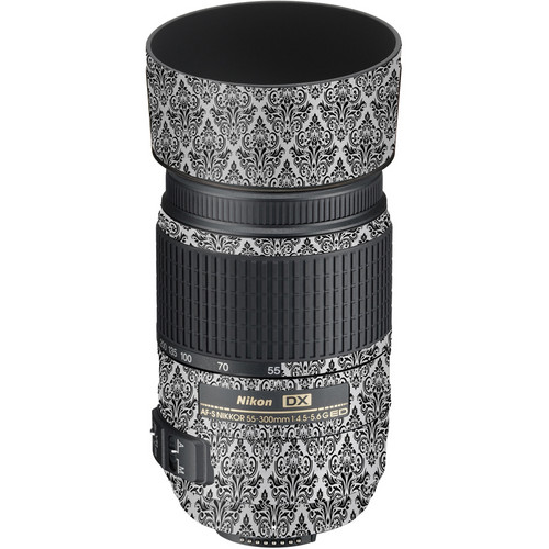 LensSkins Lens Wrap for Nikon 55-300mm f/4.5-5.6G (BW Damask)