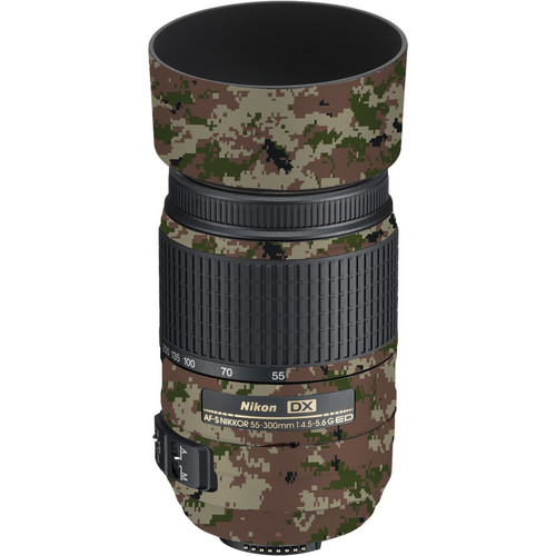 LensSkins Lens Skin for the Nikon 55-300mm f/4.5-5.6G ED VR Lens (Camo)