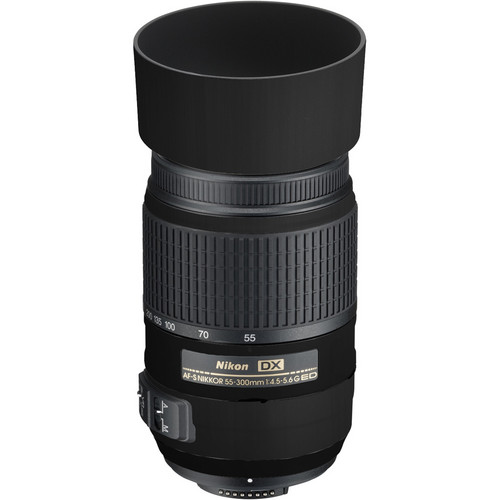 LensSkins Lens Skin for the Nikon 55-300mm f/4.5-5.6G ED VR Lens (Flat Black)