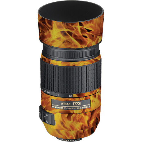 LensSkins Lens Wrap for Nikon 55-300mm f/4.5-5.6G (Fire)