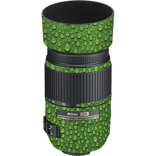 LensSkins Lens Skin for the Nikon 55-300mm f/4.5-5.6G ED VR Lens (Green Water)