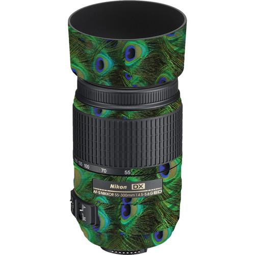 LensSkins Lens Skin for the Nikon 55-300mm f/4.5-5.6G ED VR Lens (Peacock Bliss)