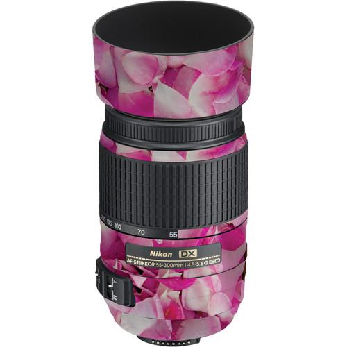 LensSkins Lens Skin for the Nikon 55-300mm f/4.5-5.6G ED VR Lens (Pink Petals)