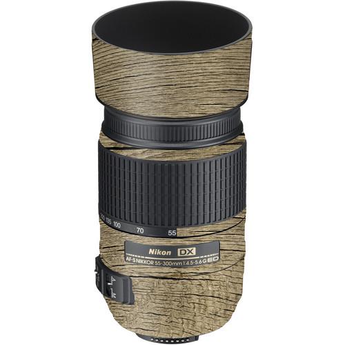 LensSkins Lens Wrap for Nikon 55-300mm f/4.5-5.6G (Woodie)