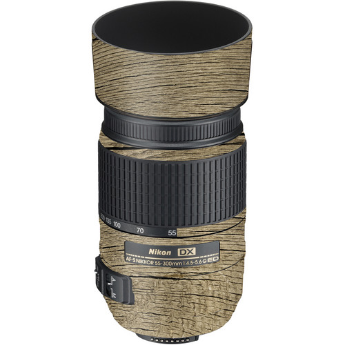 LensSkins Lens Wrap for Nikon 55-300mm f/4.5-5.6G (Woodie)