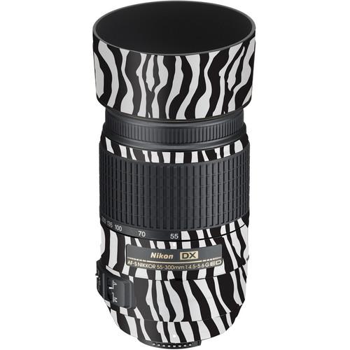 LensSkins Lens Wrap for Nikon 55-300mm f/4.5-5.6G (Zebra (Wild Child))