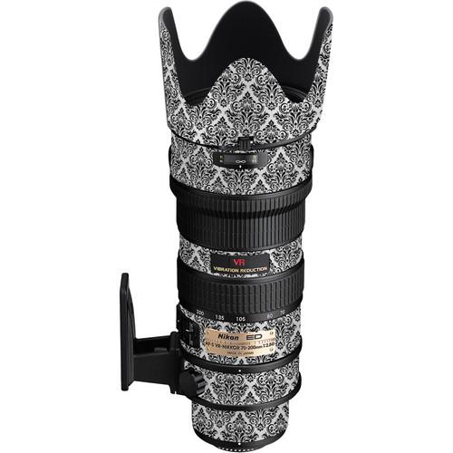 LensSkins Lens Wrap for Nikon 70-200mm f/2.8G (BW Damask)