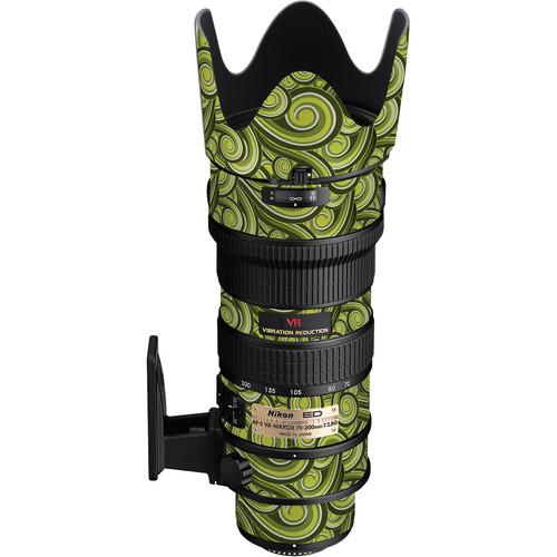 LensSkins Lens Skin for the Nikon 70-200mm f/2.8G AF-S IF-ED VR Lens (Green Swirl)