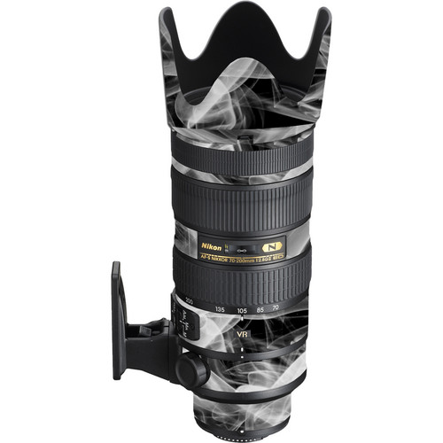 LensSkins Lens Wrap for Nikon 70-200mm f/2.8G II (Black and White Smoke)