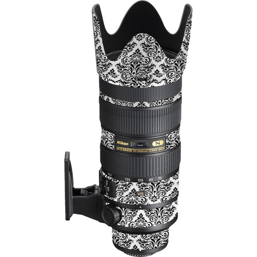 LensSkins Lens Wrap for Nikon 70-200mm f/2.8G II (BW Damask)