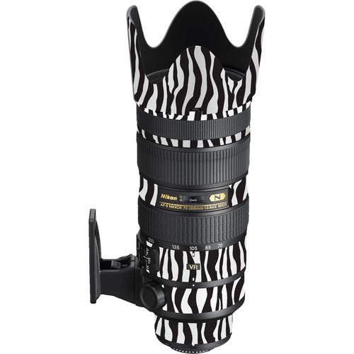 LensSkins Lens Wrap for Nikon 70-200mm f/2.8G II (Zebra (Wild Child))