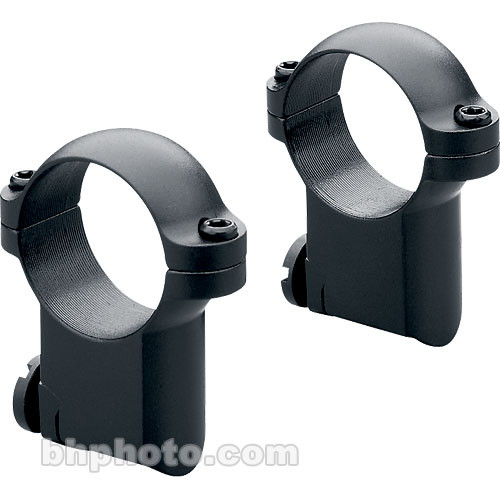 "Leupold 1"" Main-Tube High Ringmounts for RM Ruger #1 & 77/22 (Matte-Black, Pair)"