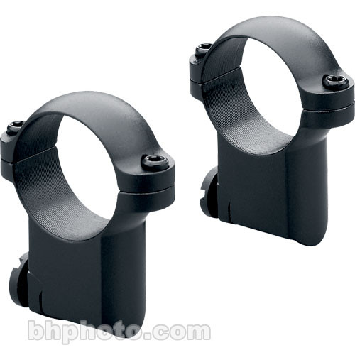 Leupold 30mm Main-Tube Medium Ringmounts for RM Ruger #1 & 77/22 (Matte-Black, Pair)