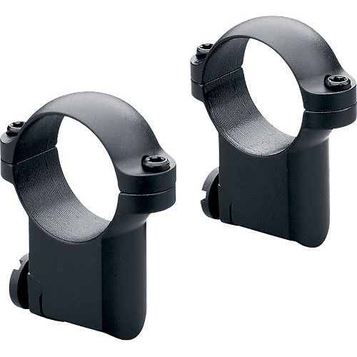 "Leupold 1"" Main-Tube High Ext Ringmounts for RM Ruger #1 & 77/22 (Matte-Black, Pair)"