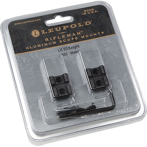 Leupold Rifleman Knight LK 93 Two-Piece Mounting Base (Matte Black)
