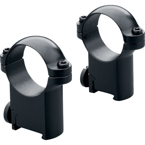 Leupold RM CZ 550 Ringmounts (30mm, Steel, Medium, Matte Black)