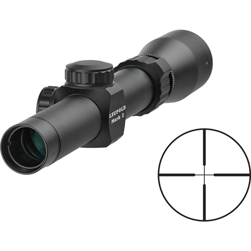 "Leupold 1.5-5x20 Mark 2 Riflescope with 1.0"" Tube, Duplex Reticle (Matte Black)"
