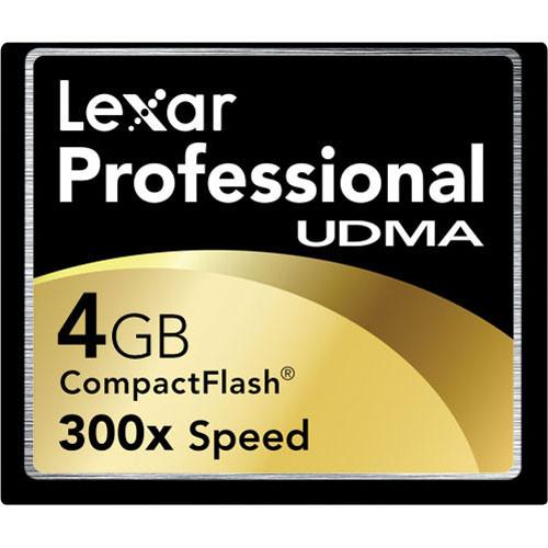 Lexar 4GB UDMA 300x CompactFlash Card