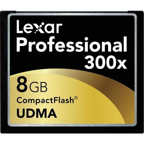Lexar 8GB UDMA 300x CompactFlash Card