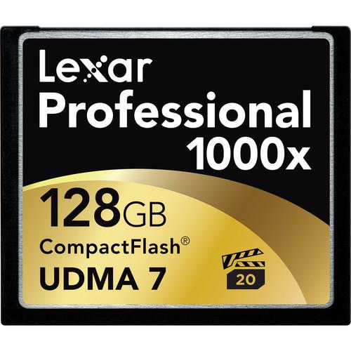 Lexar 128GB CompactFlash Memory Card Professional 1000x UDMA