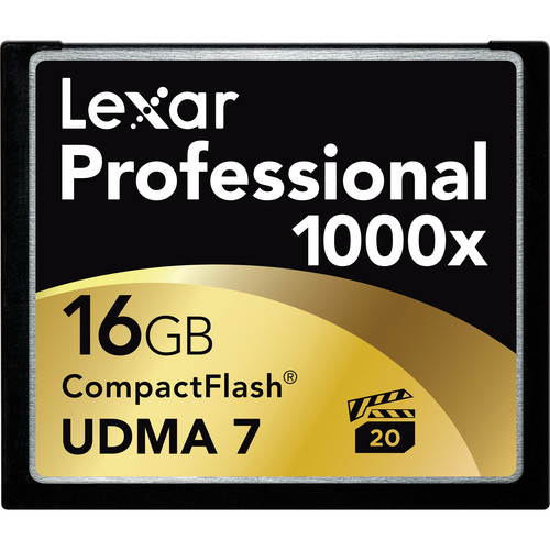Lexar 16GB CompactFlash Memory Card Professional 1000x UDMA