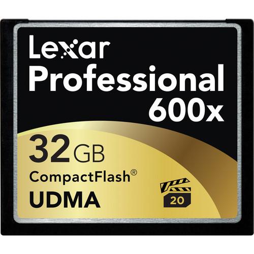 Lexar 32GB CompactFlash Memory Card Professional 600x UDMA
