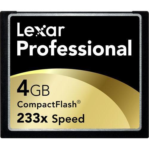 Lexar 4GB Professional 233x CompactFlash Card
