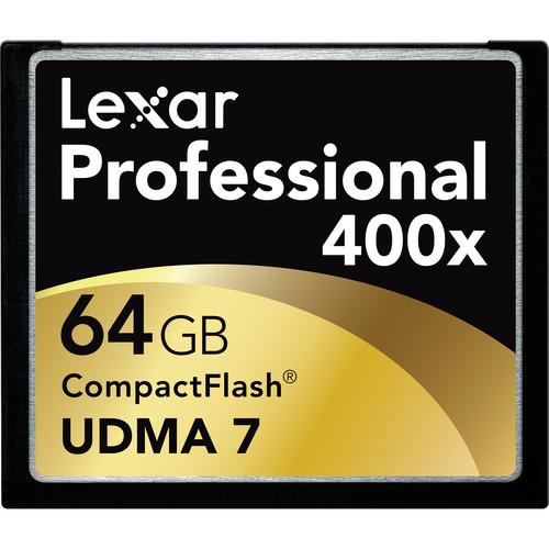Lexar 64GB CompactFlash Memory Card Professional 400x UDMA