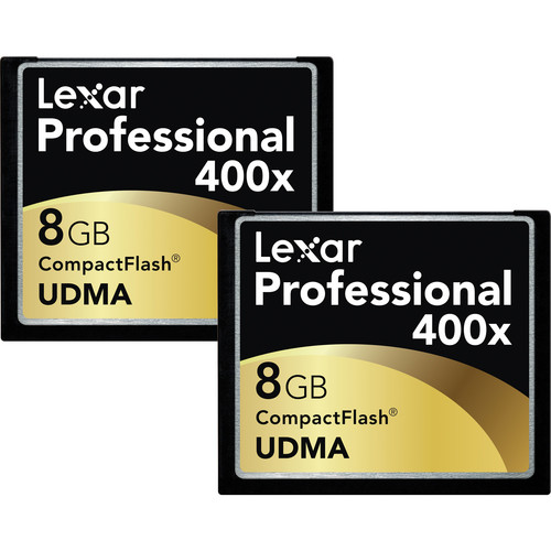 Lexar 8GB CompactFlash Memory Card Professional 400x UDMA - 2 Pack