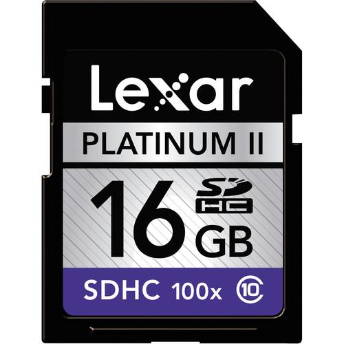 Lexar 16GB SDHC Memory Card Platinum II Class 10