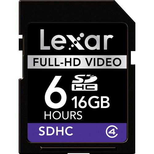 Lexar 16GB SDHC Memory Card Full-HD Video